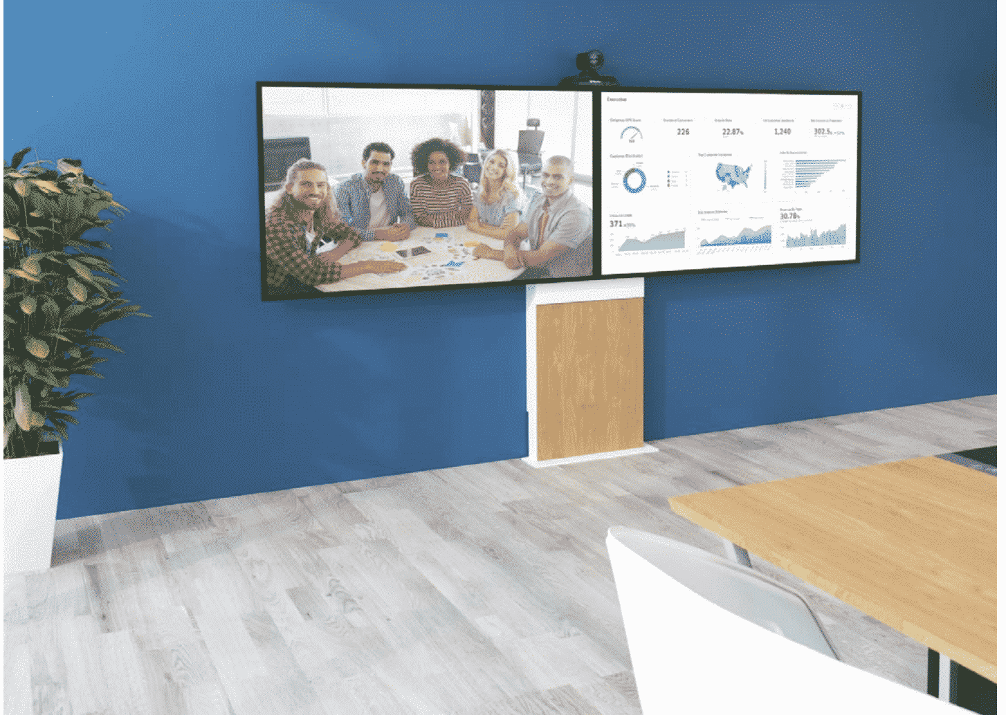 support Ecran - Mobilier - Intégration Audiovisuelle STARDUST Group