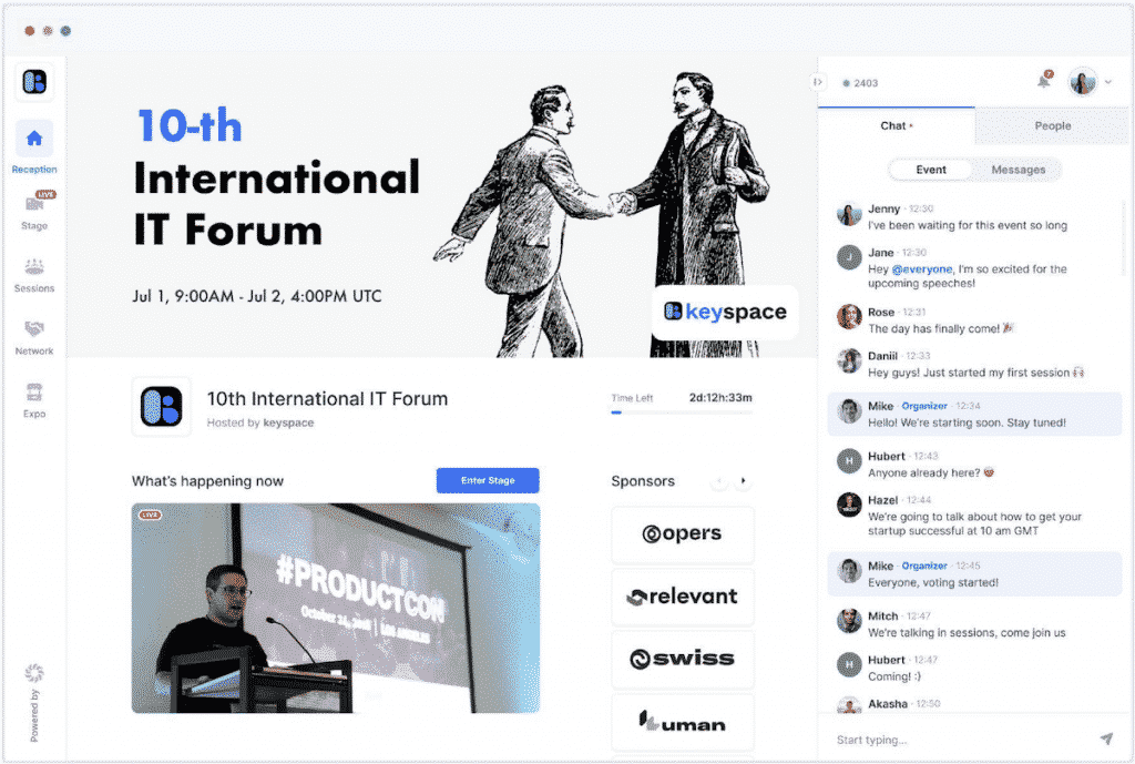 Solutions digitales - Hopin  Plateforme événementielle - STARDUST Group