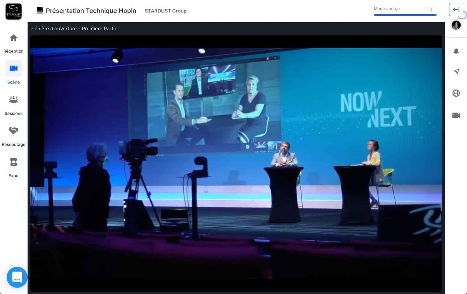 Solutions Digitales Hopin - Stage Plénière - STARDUST Group
